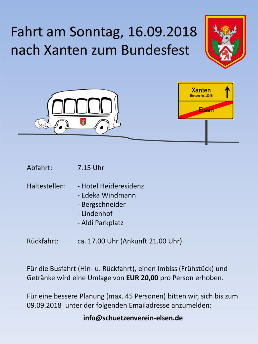 Bundesfest in Xanten 2018